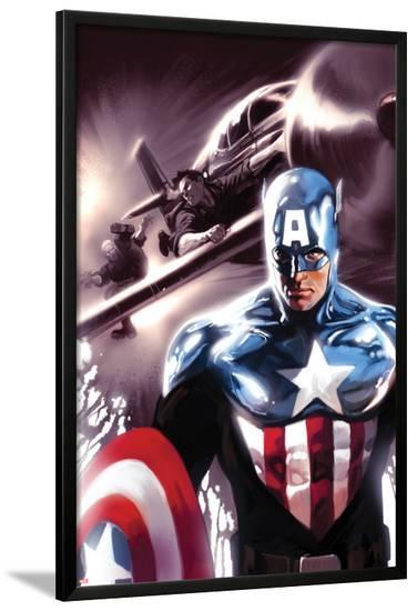 Captain America No.609 Cover: Captain America-Marko Djurdjevic-Lamina Framed Poster