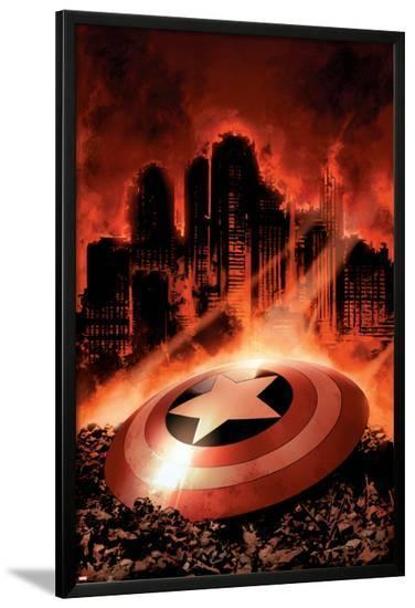 Captain America No.8 Cover: Captain America-Steve Epting-Lamina Framed Poster
