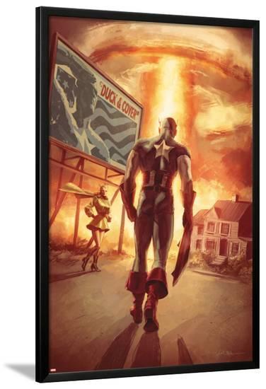 Captain America: Patriot No.4 Cover: Captain America Walking-Mitchell Breitweiser-Lamina Framed Poster