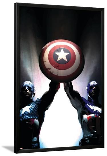 Captain America Reborn: Who will weild the shield? Cover: Captain America-Gerald Parel-Lamina Framed Poster