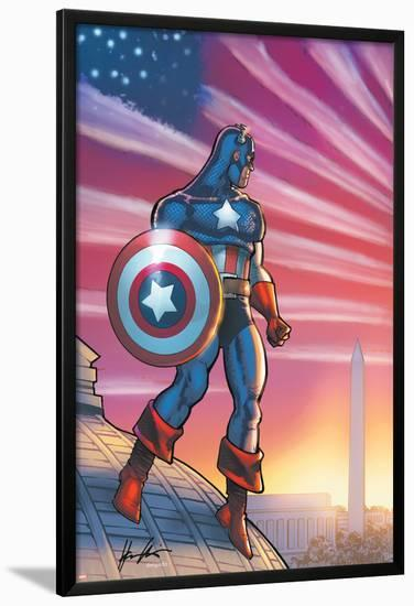Captain America Theater Of War: America First! No.1 Cover: Captain America-Howard Chaykin-Lamina Framed Poster