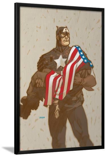 Captain America V4, No.23 Cover: Captain America-Dave Johnson-Lamina Framed Poster