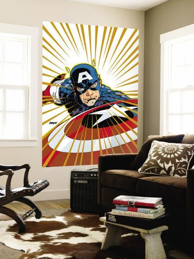 Captain America V4, No.27 Cover: Captain America Fighting-Dave Johnson-Wall Mural