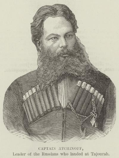 Captain Atchinoff, Leader of the Russians Who Landed at Tajourah--Giclee Print