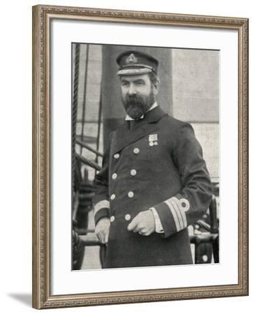 Captain Baynham, Training Ship Wellesley, North Shields-Peter Higginbotham-Framed Photographic Print
