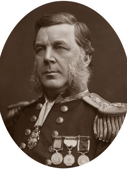 Captain Bedford Clapperton Trevelyan Pim, British Naval Officer, 1883-Lock & Whitfield-Photographic Print