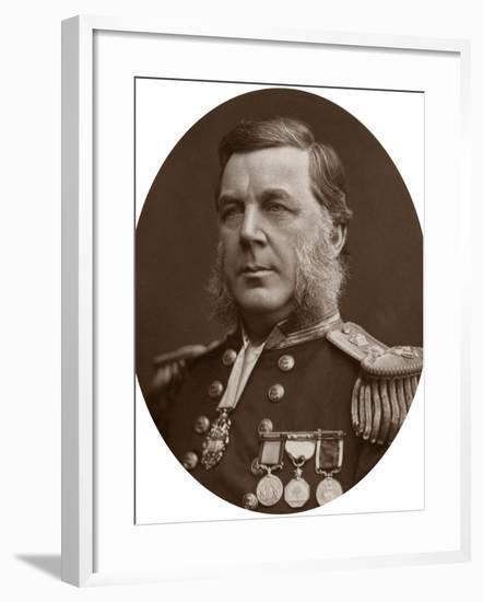 Captain Bedford Clapperton Trevelyan Pim, British Naval Officer, 1883-Lock & Whitfield-Framed Photographic Print