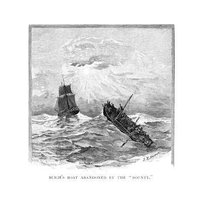 Captain Bligh's Boat Abandoned by the 'Bounty, 1789-JR Ashton-Giclee Print