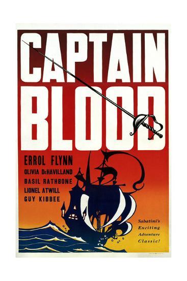 Captain Blood - Movie Poster Reproduction--Art Print