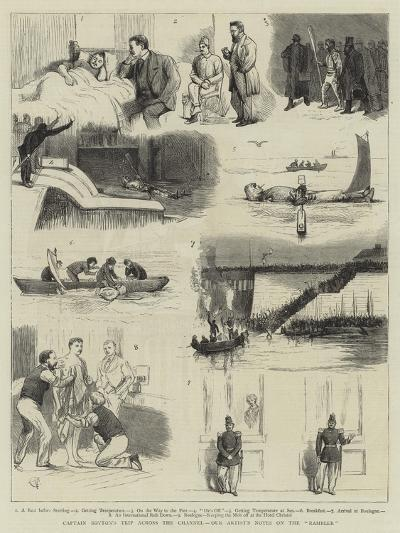 Captain Boyton's Trip across the Channel, Our Artist's Notes on the Rambler-Alfred Chantrey Corbould-Giclee Print