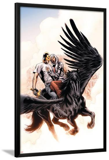 Captain Britian And MI:13 No.7 Cover: Black Knight-Bryan Hitch-Lamina Framed Poster
