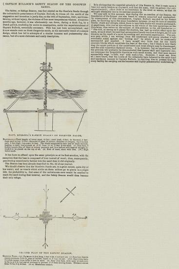 Captain Bullock's Safety Beacon on the Goodwin Sands--Giclee Print
