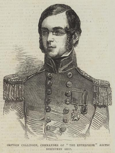 Captain Collinson, Commander of The Enterprise Arctic Discovery Ship--Giclee Print