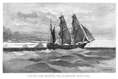 Captain Cook Sighting the Glasshouse Mountains, 1770-Julian Ashton-Giclee Print