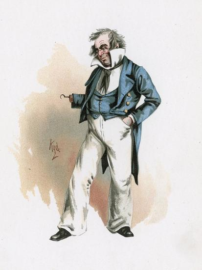 Captain Cuttle, Illustration from 'Character Sketches from Charles Dickens', C.1890 (Colour Litho)-Joseph Clayton Clarke-Giclee Print