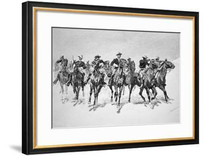 Captain Dodge's Colored Troopers to the Rescue-Frederic Sackrider Remington-Framed Giclee Print