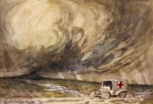 An Ambulance Awaits by Captain E. Lander