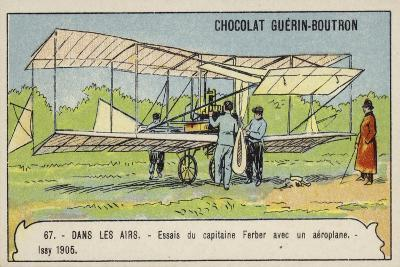 Captain Ferber Carrying Out Trials of an Aeroplane, Issy, France, 1905--Giclee Print