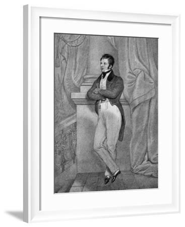 Captain Frederick Marryat (1792-184), English Novelist, 19th Century--Framed Giclee Print