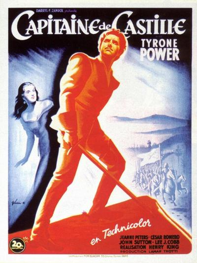 Captain From Castile, French Movie Poster, 1947--Art Print