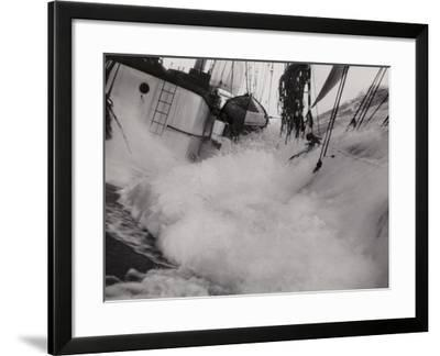 Captain G Erikson's Ponape, South Atlantic, 1935--Framed Photographic Print