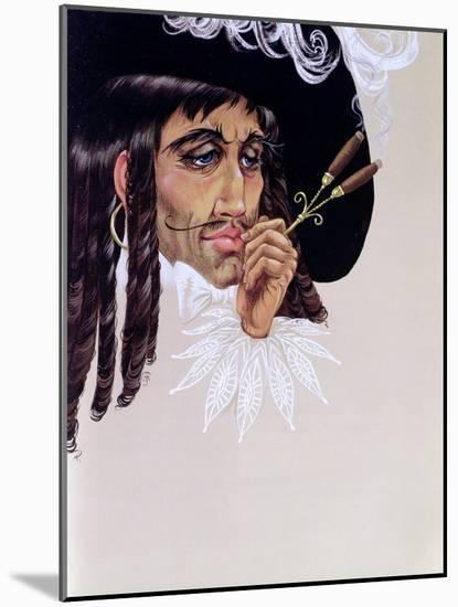 Captain Hook, from 'Peter Pan' by J.M. Barrie-Anne Grahame Johnstone-Mounted Giclee Print