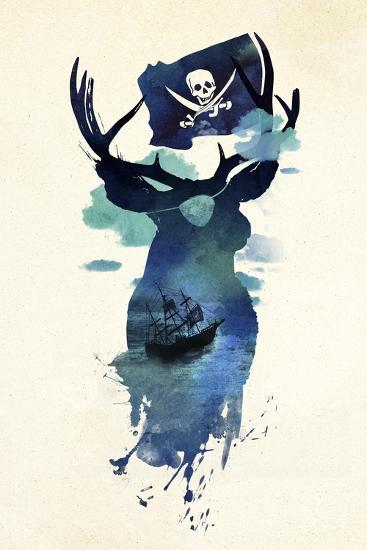 Captain Hook-Robert Farkas-Giclee Print