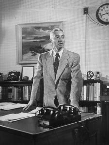 Captain Hyman George Rickover Standing at His Desk