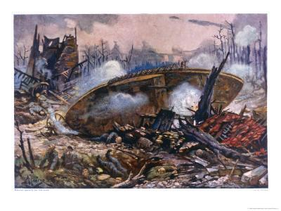 Captain Inglis's Tank-Alfred Pearse-Giclee Print