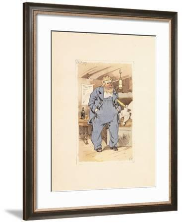 Captain Jack Bunsby, from Dombey and Son-Joseph Clayton Clarke-Framed Giclee Print