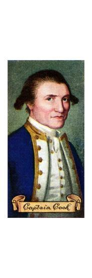 Captain James Cook, taken from a series of cigarette cards, 1935. Artist: Unknown-Unknown-Giclee Print