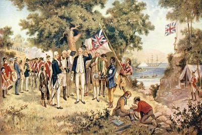 Captain James Cook Taking Possession of New South Wales in the Name of the British Crown, 1770--Giclee Print