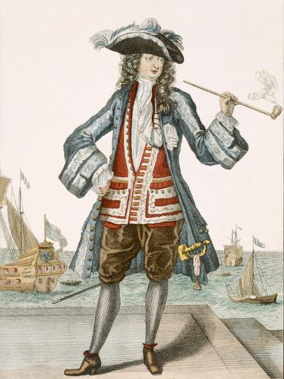Captain Jean Bart of Dunkerque (Coloured Engraving)-French-Giclee Print