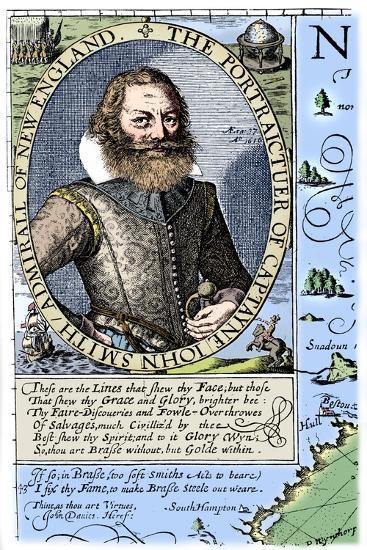 Captain John Smith, Virginia colonist, 1624, (1893)-Unknown-Giclee Print