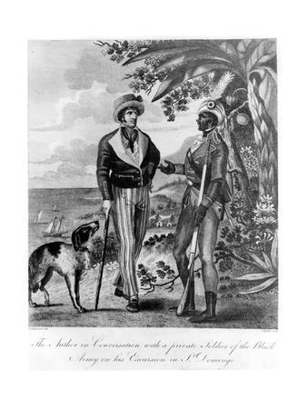Captain Marcus Rainsford with a Private Soldier of the Black Army, 1805-John Barlow-Giclee Print