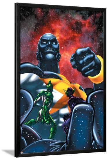 Captain Marvel No.21 Cover: Captain Marvel-Chris Cross-Lamina Framed Poster
