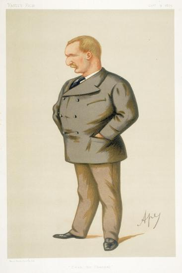 Captain Matthew Webb, First Man to Swim the English Channel, 1875-Carlo Pellegrini-Giclee Print