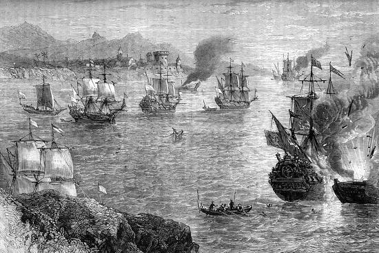 Captain Morgan's Defeat of the Spanish Fleet, 1660S--Giclee Print