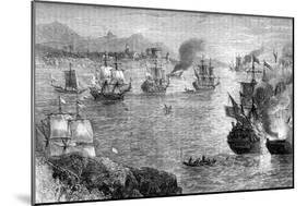 Captain Morgan's Defeat of the Spanish Fleet, 1660S-null-Mounted Giclee Print