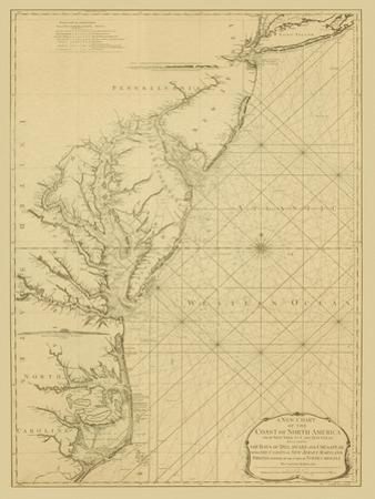 Coastal Chart of the East Coast by Captain N. Holland