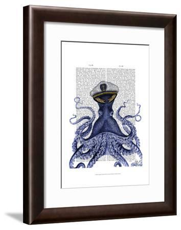 Captain Octopus-Fab Funky-Framed Art Print