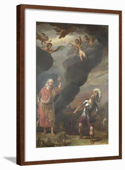 Captain of Gods Army Appearing to Joshua-Ferdinand Bol-Framed Art Print