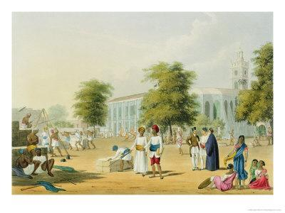 Bombay, from Volume I of Scenery, Costumes and Architecture of India, Engraved by R.G. Reeve