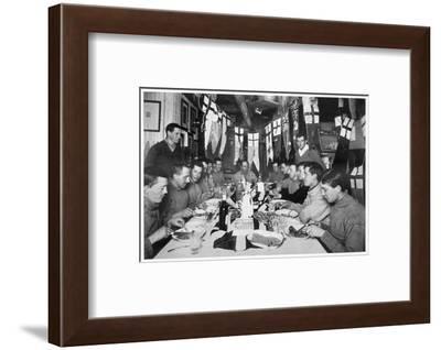 'Captain Scott's last Birthday Dinner', Antarctica, June 6th 1911-Herbert Ponting-Framed Photographic Print