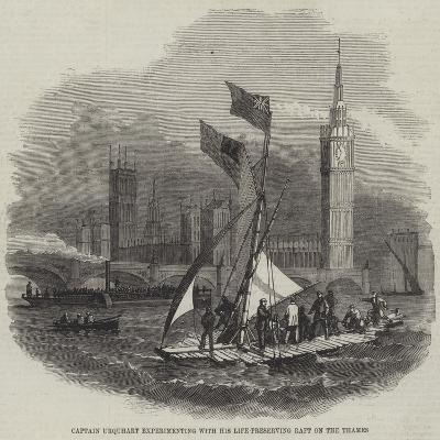 Captain Urquhart's Life-Preserving Raft--Giclee Print