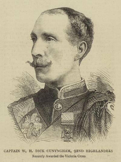 Captain W H Dick Cunyngham, 92nd Highlanders--Giclee Print
