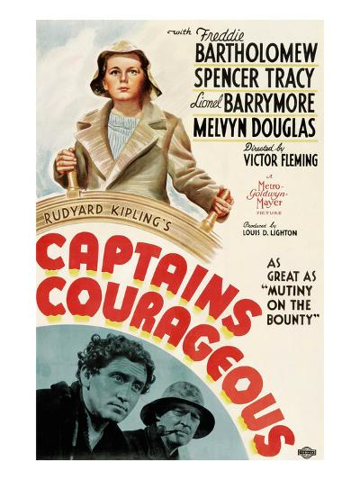 Captains Courageous, Freddie Bartholomew, Spencer Tracy, Lionel Barrymore, 1937--Photo