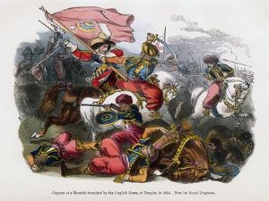 Capture of a Moorish Standard by the English Horse, at Tangier, 1664