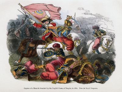 Capture of a Moorish Standard by the English Horse, at Tangier, 1664--Giclee Print