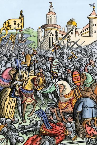 Capture of Bertrand De Guescelin in the Battle of Auray, 1364--Giclee Print